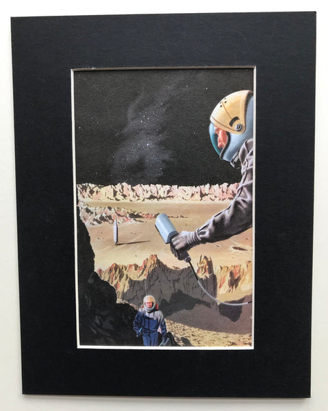 Mounted 1960 Mars Walk Print by Knight.