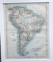1909 Map of South America