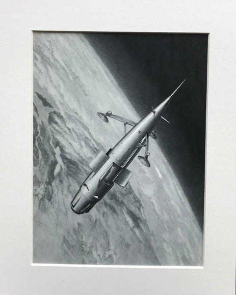 Mounted 1954 Instrument Carrying Rocket in Orbit by RA Smith