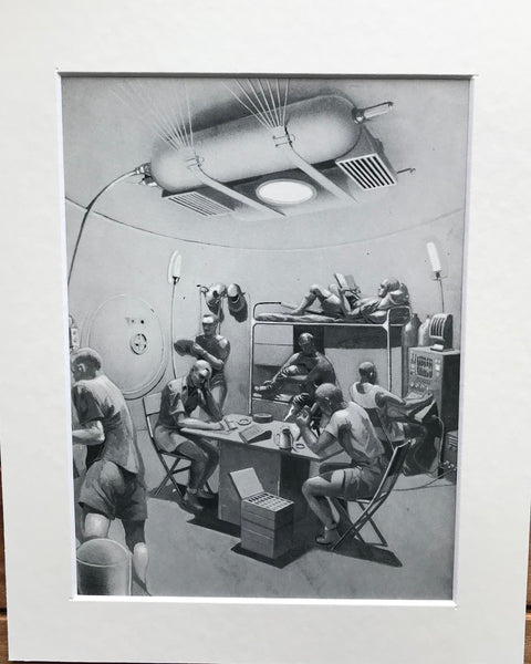 1954 Mounted Inside Lunar Igloo print by RA Smith