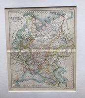 1890 Map of Russia in Europe