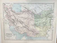 1883 Map of Persia by George Philip.