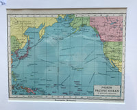 1936 Map of North Pacific Ocean