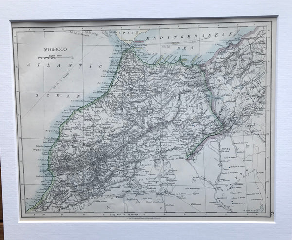 1909 Map of Morocco