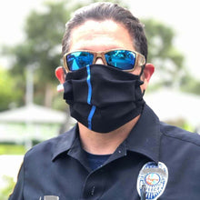 Load image into Gallery viewer, thin blue line custom face mask