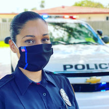 Load image into Gallery viewer, thin blue line police leo face mask