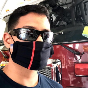 thin red line firefighter face mask