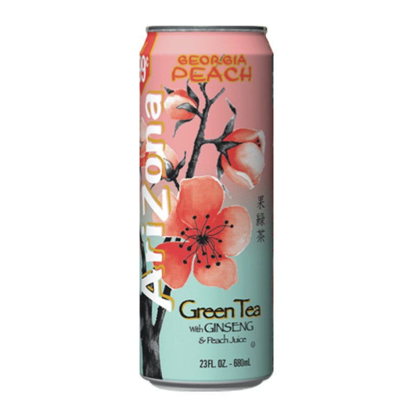 AriZona Tea Georgia Peach 23.5OZ Can (680ml)
