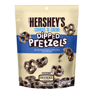 Hershey's Cookies & Creme Dipped Pretzels Pouch 8.5oz