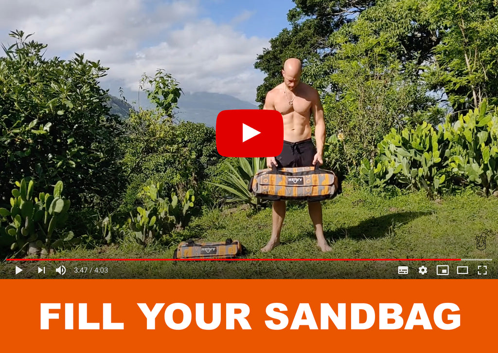 Fill your sandbag - Officially Heavy Sandbags