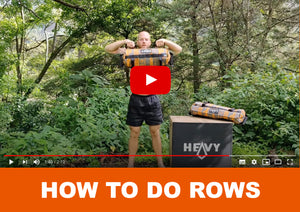 How to do rows - Officially Heavy Sandbags