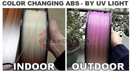 color changing ABS 3d printer filament
