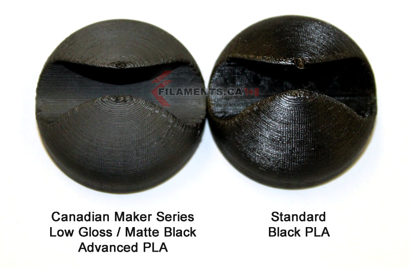 Matte Black PLA - Low Gloss 3D Printer Filament Canada