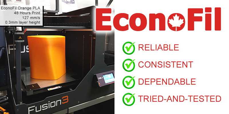 EconoFil Consistent Dependable 3D Printer Filament Canada