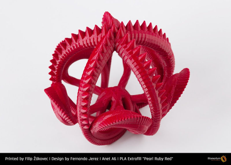 Fillamentum Pearl Ruby Red PLA 3D Filament Canada