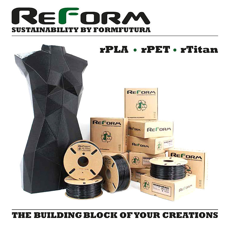 FormFutura ReForm Recycled 3D Printer Filament Canada