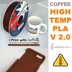 aromatic coffee high temperature PLA from proto pasta Canada