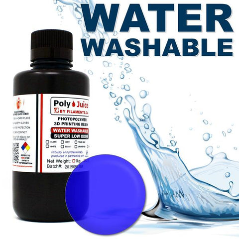 PolyJuice Water Washable Resin – Transparent Blue