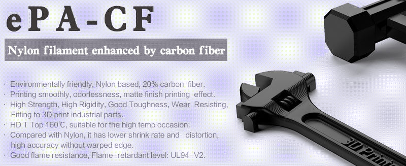 esun epa-cf nylon carbon fiber 3d printer filament Canada