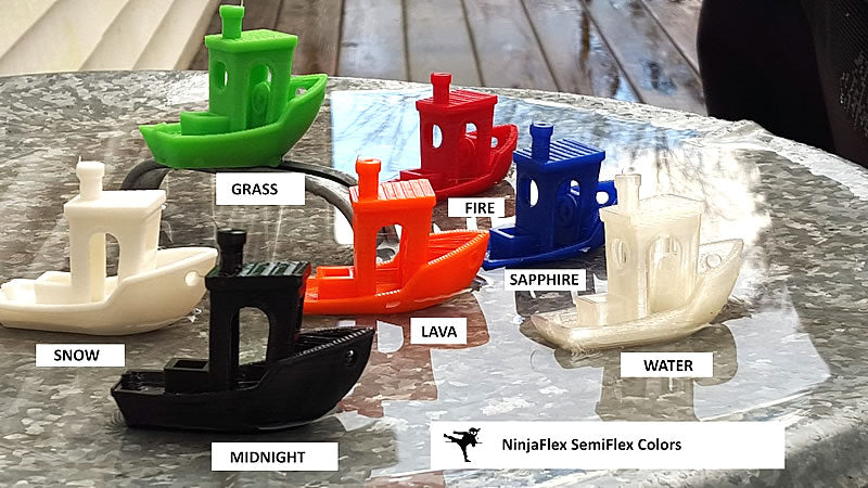 ninjaflex semiflex 3D printer filament colors Canada