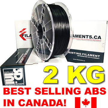 2KG ABS Filament - BLACK - 1.75mm