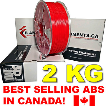 2KG ABS Filament - RED - 1.75mm