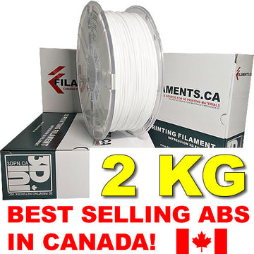 2KG ABS Filament - WHITE - 1.75mm