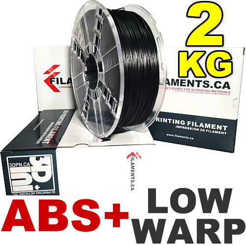 Low Warp ABS+ 3D Printer Filament Canada 2kg