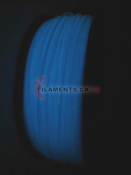 Glow in the Dark Blue ABS Filament 3D Printing Canada