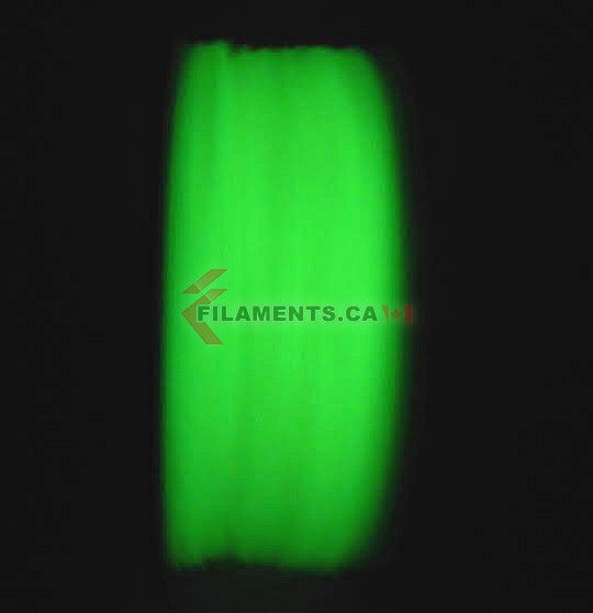 Glow In The Dark ABS Filament 3D Printing Canada 1.75mm