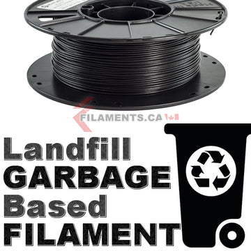 Landfillament - Recycled Trash Based Filament - Black - 2.85mm
