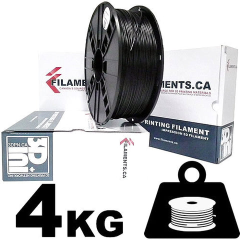 4KG ABS Filament - BLACK - 1.75mm