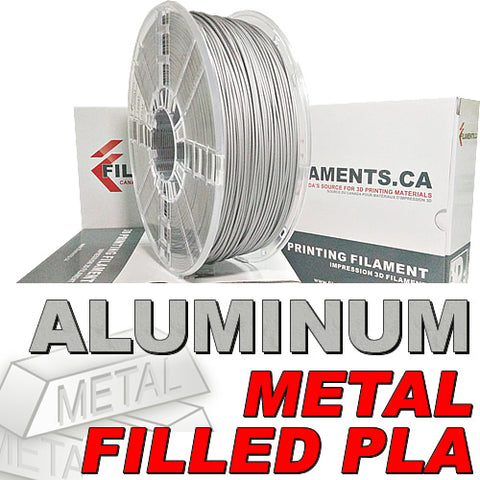 Aluminum fill metal 3d printer filament Canada