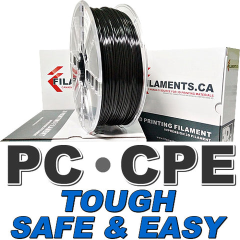 PC PolyCarbonate CPE Copolyester 3d Filament Canada