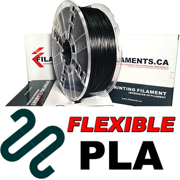 Flexible PLA Filament - BLACK - 1.75mm