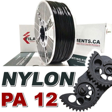 Nylon PA12 - Black - 1.75mm