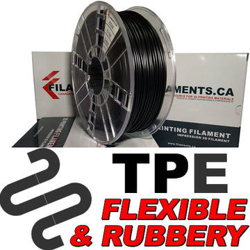 Elastomer TPE Filament - BLACK - 2.85mm