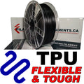 Polyurethane TPU Filament - BLACK - 2.85mm