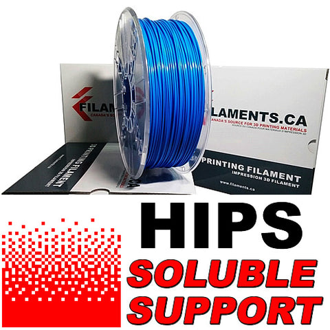 HIPS Dissolvable 3d printer filament Canada
