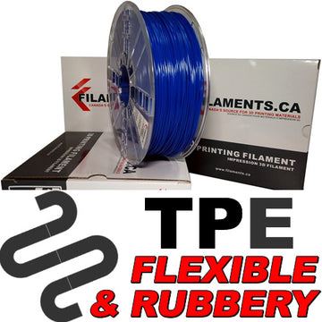 Elastomer TPE Filament - BLUE - 2.85mm