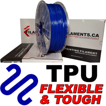 Polyurethane TPU Filament - BLUE - 2.85mm