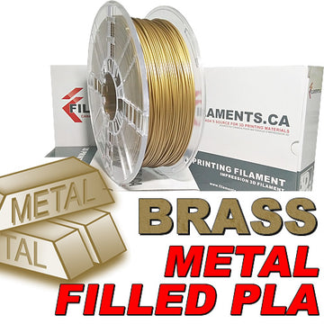 PLA Filament - Brass Fill - 1.75mm