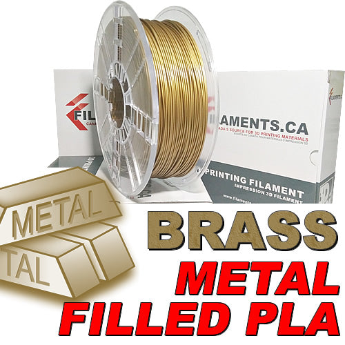 Brass Fill metal PLA 3D printer filament Canada