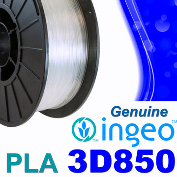 Genuine INGEO PLA 3D850 Filament - CLEAR (No Yellow Hue) - 1.75mm