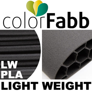 ColorFabb LW PLA Light Weight - BLACK - 1.75mm