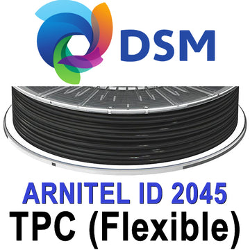 DSM Arnitel 2045 TPC Flexible Filament - Black - 2.85mm