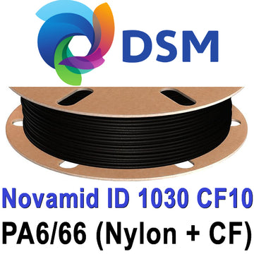 DSM Novamid 1030 CF10 Carbon Fiber Reinforced Nylon Filament - Black - 1.75mm