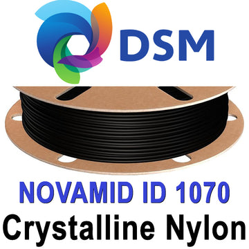 DSM Novamid 1070 High Crystalline PA6 Nylon Filament - Black - 1.75mm