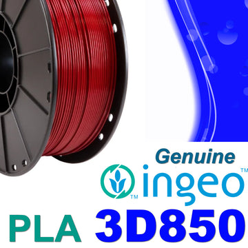 Genuine INGEO PLA 3D850 Filament - Dark Red - 1.75mm