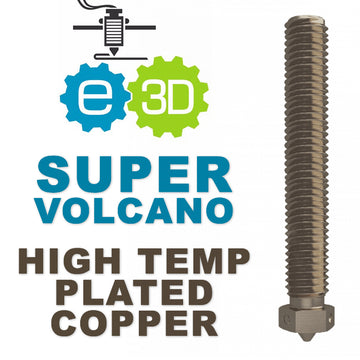 E3D Genuine SuperVolcano Nozzle - Plated Copper